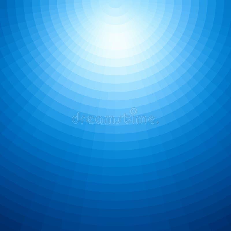 Radiaal ontwerp als achtergrond Abstract blauw vectorkunstpatroon Grafisch element, gradiënt onderwaterillustratie vector illustratie