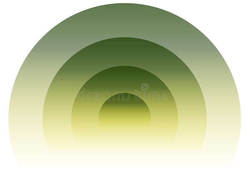 Radiaal, uitstralend cirkelelement Grafiek voor transmissie, e vector illustratie