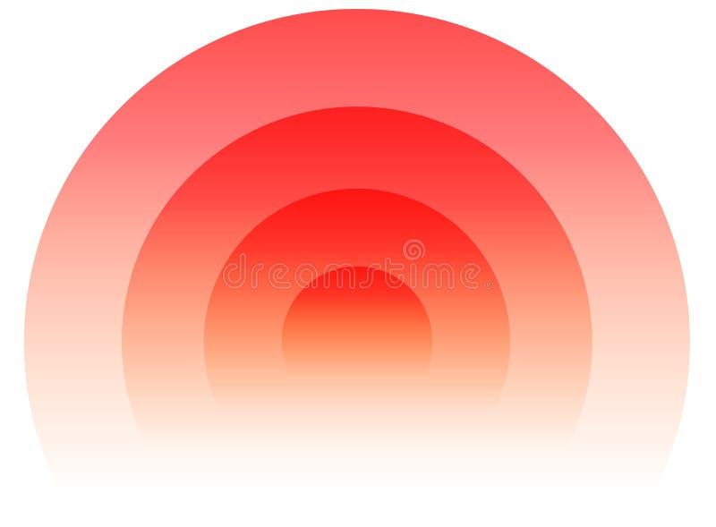 Radiaal, uitstralend cirkelelement Grafiek voor transmissie, e royalty-vrije illustratie