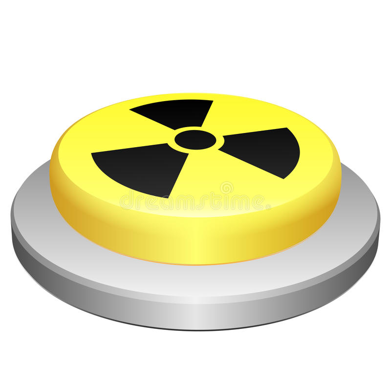 Radiación del botón stock de ilustración