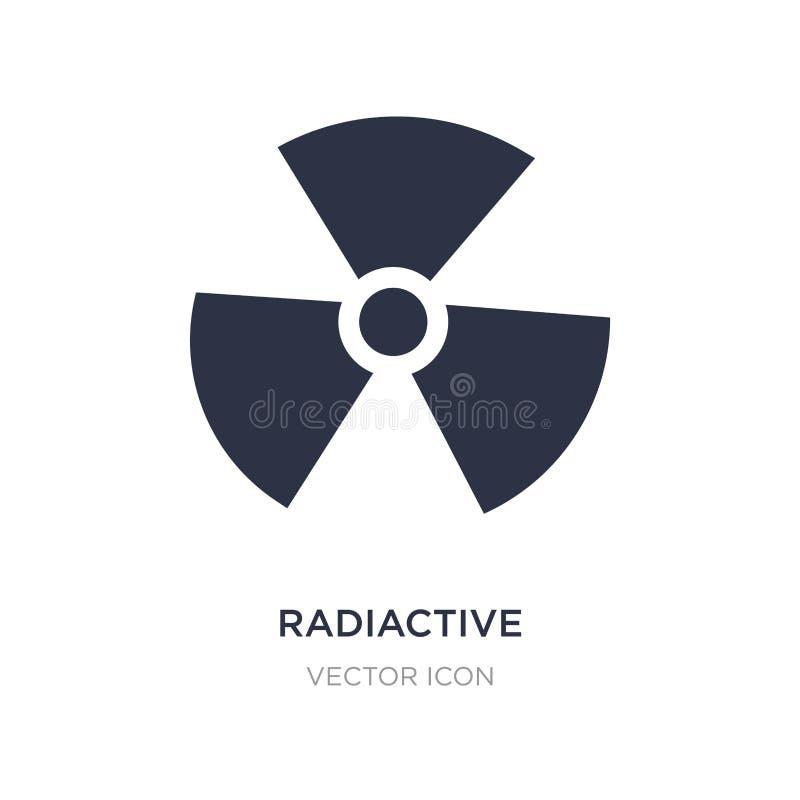 radiactive symbol på vit bakgrund Enkel beståndsdelillustration från översikts- och flaggabegrepp stock illustrationer