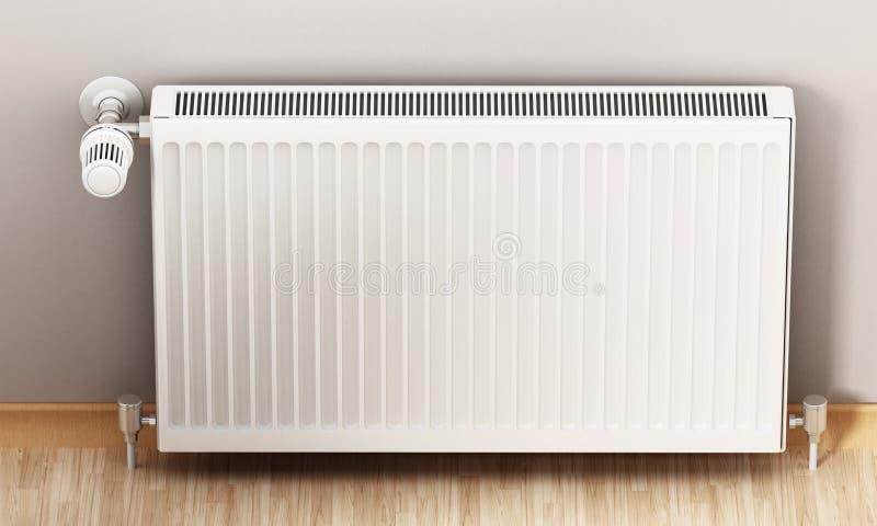 Radiador com termostato ajustável ilustração 3D ilustração royalty free
