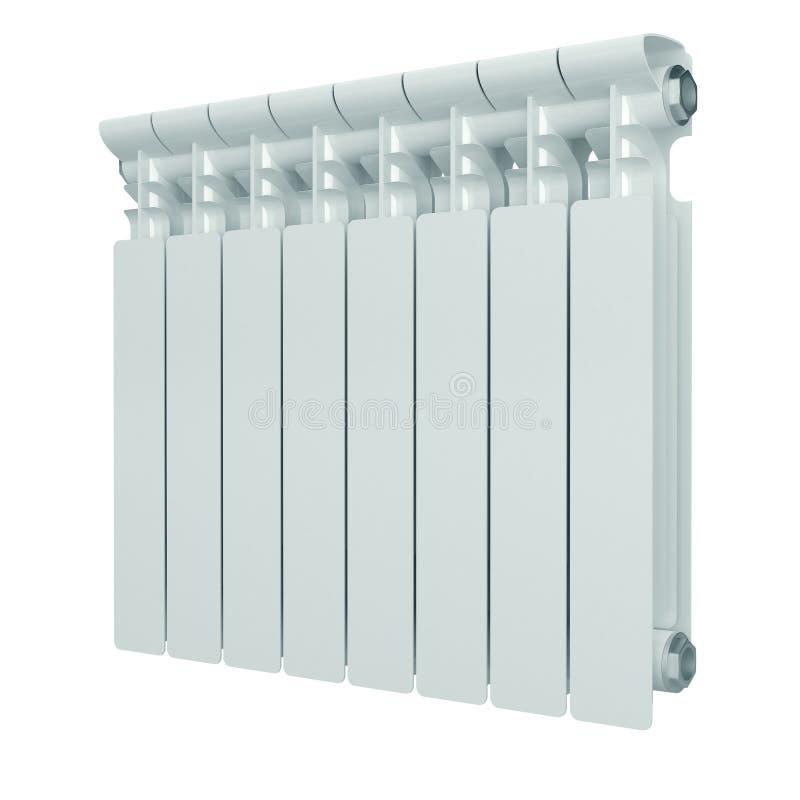 Radiador de aluminio blanco de la calefacción. ilustración del vector