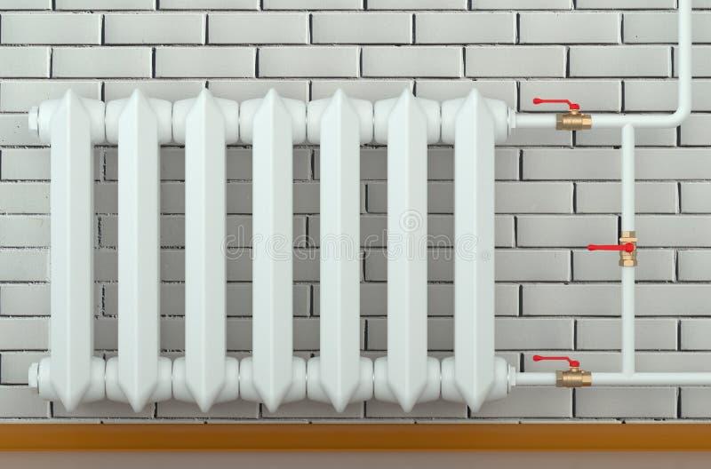 Radiador do ferro fundido em casa ilustração do vetor