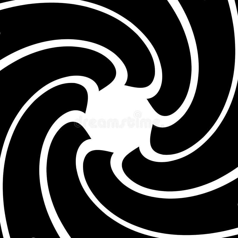 Radial объезжает абстрактную предпосылку Спираль, Пэт вортекса геометрическое бесплатная иллюстрация