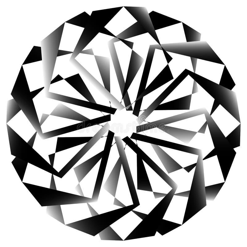 Download Radial, спирально геометрический декоративный элемент - абстрактное Monochr Иллюстрация вектора - иллюстрации насчитывающей разносторонне, кругово: 81807042