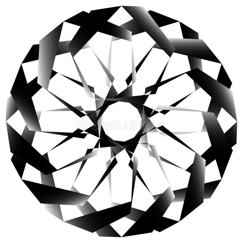 Download Radial, спирально геометрический декоративный элемент - абстрактное Monochr Иллюстрация вектора - иллюстрации насчитывающей концентрическо, центр: 81807050