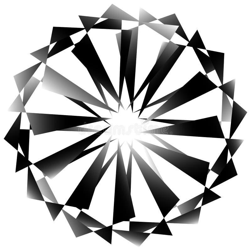 Download Radial, спирально геометрический декоративный элемент - абстрактное Monochr Иллюстрация вектора - иллюстрации насчитывающей сходиться, концентрическо: 81807074
