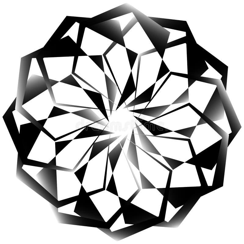 Download Radial, спирально геометрический декоративный элемент - абстрактное Monochr Иллюстрация вектора - иллюстрации насчитывающей monochrome, центрально: 81807080