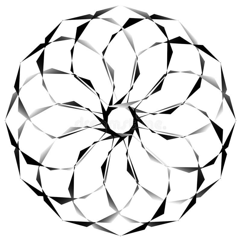 Download Radial, спирально геометрический декоративный элемент - абстрактное Monochr Иллюстрация вектора - иллюстрации насчитывающей расширять, бесцветно: 81808857