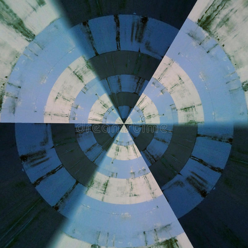 Radial abstract pattern. Radial Blue Grey abstract patterns in a circle stock photo
