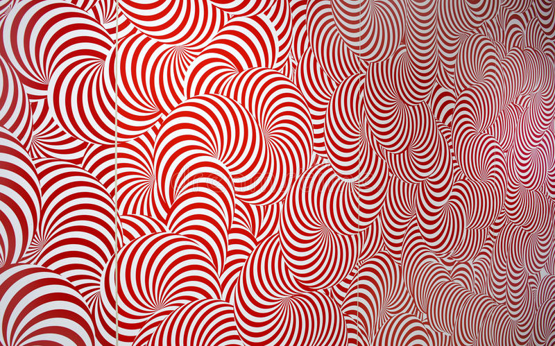Radial Abstract Pattern Red and White royalty free illustration