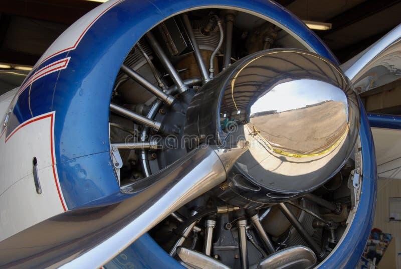 Radial aircraft engine. Closeup of radial aircraft engine stock photos
