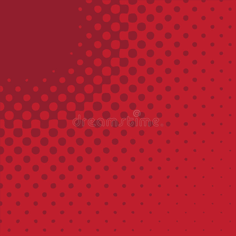 Radial Arrow - Red stock illustration