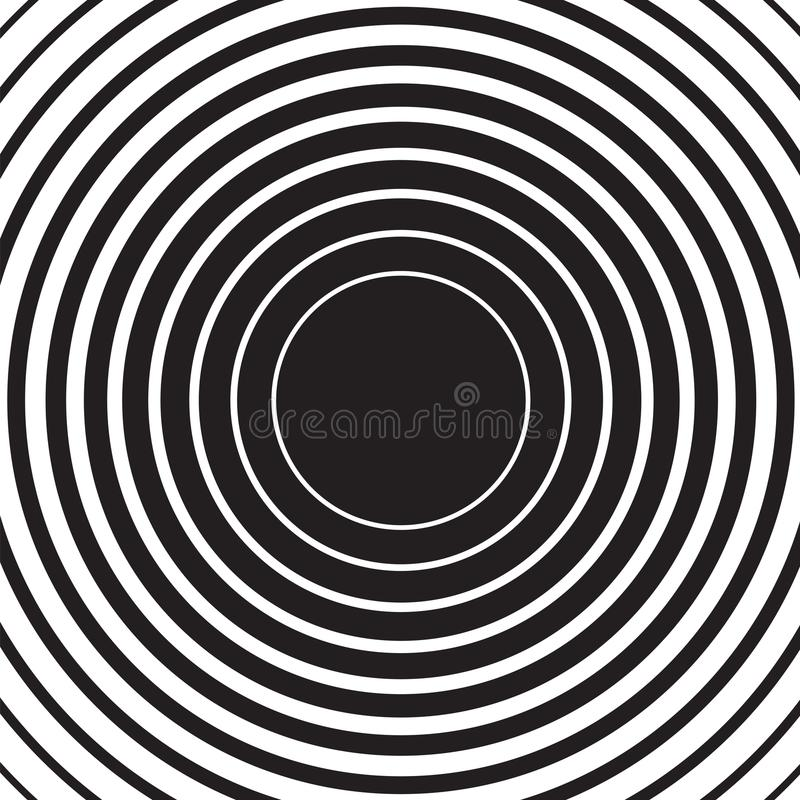 Radial concentric circle ripple background stock illustration