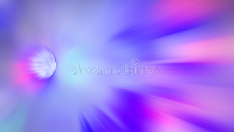 Radial blurred abstract color background light colors red, pink, yellow, blue, green, purple royalty free stock photography