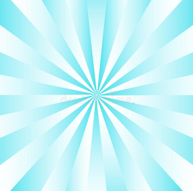 Radial Gradated Blue Stripes royalty free illustration