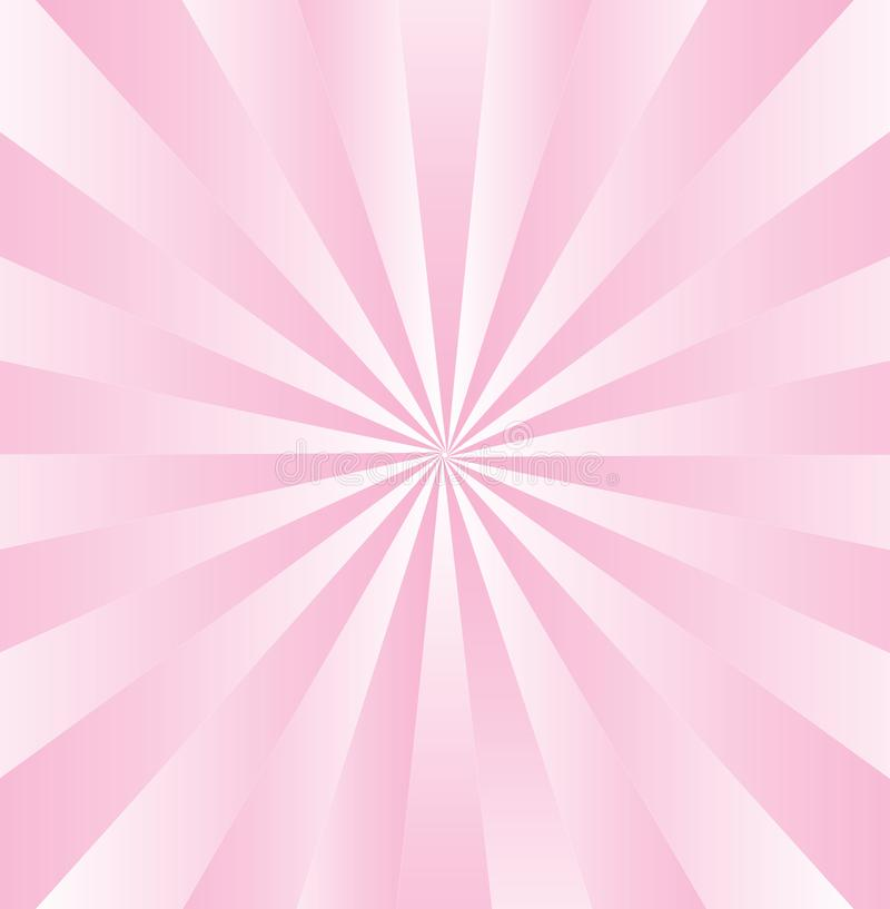 Radial Gradated Pink Stripes vector illustration