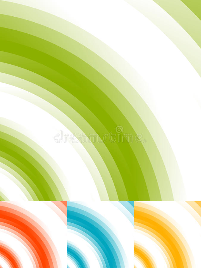 Radial circles abstract background. Spiral, vortex geometric pat stock illustration