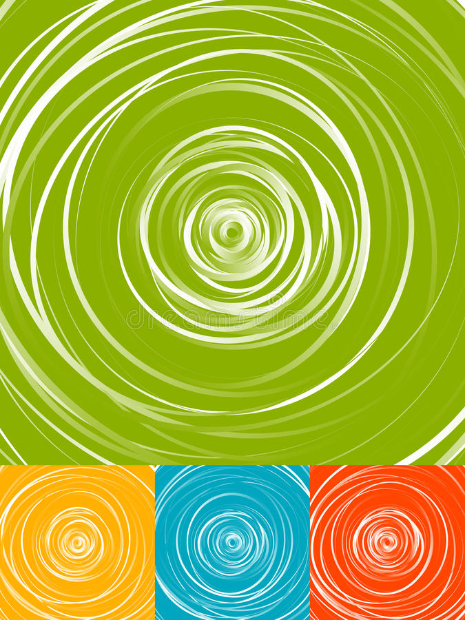 Radial circles abstract background. Spiral, vortex geometric pat. Tern - Royalty free vector illustration vector illustration
