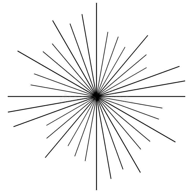 Radial circulaire, rayonnant des lignes élément Rayons abstraits, faisceaux, illustration libre de droits