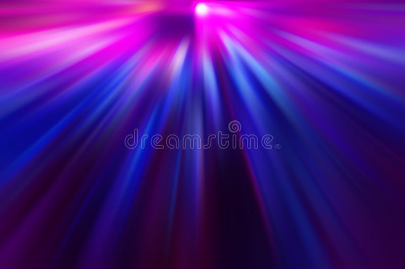 Radial colored rays. Abstract blurred background stock image