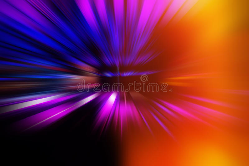 Radial colored rays. Abstract blurred background royalty free stock photos