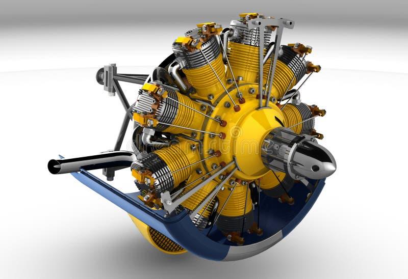 Download Radial Engine Cylinder stock illustration. Illustration of background - 22859556