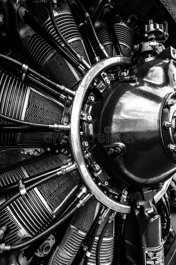 Radial Engine Wright R-1820-9 Of The Military Trainer