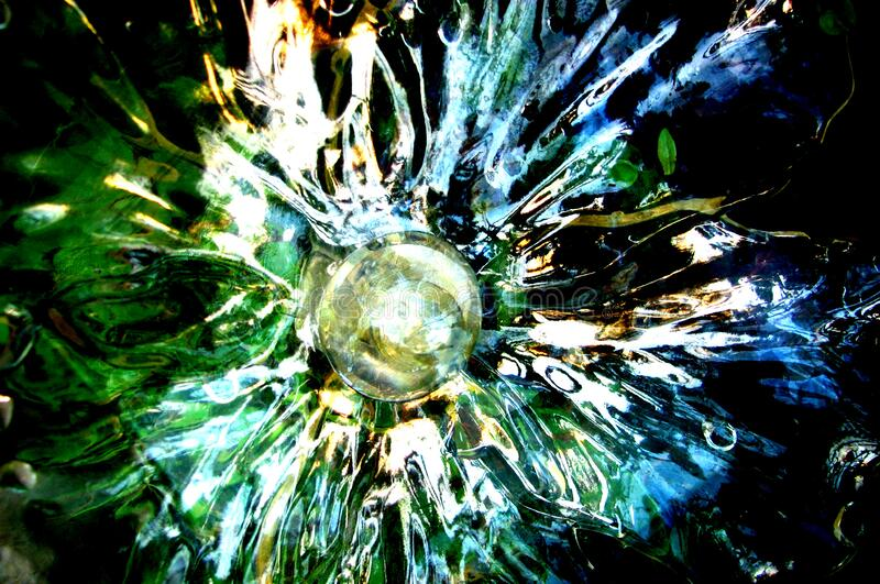 radial glass texture stock image
