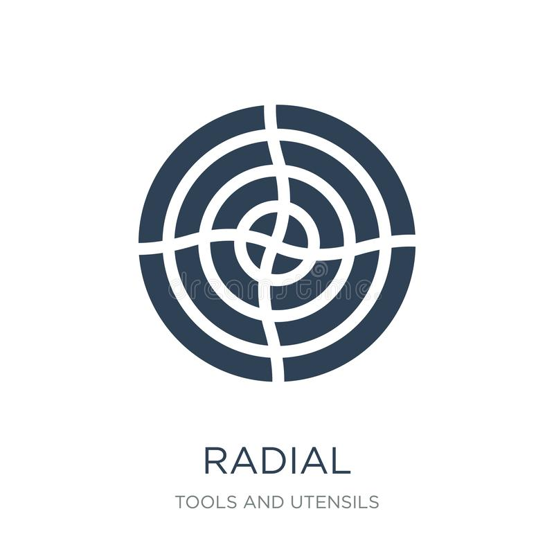 Radial icon in trendy design style. radial icon isolated on white background. radial vector icon simple and modern flat symbol for. Web site, mobile, logo, app vector illustration