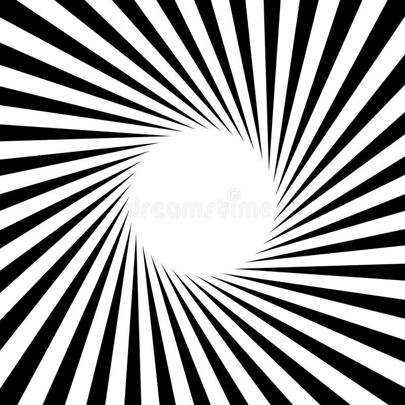 Radial - radiating lines starburst sunburst circular pattern stock illustration
