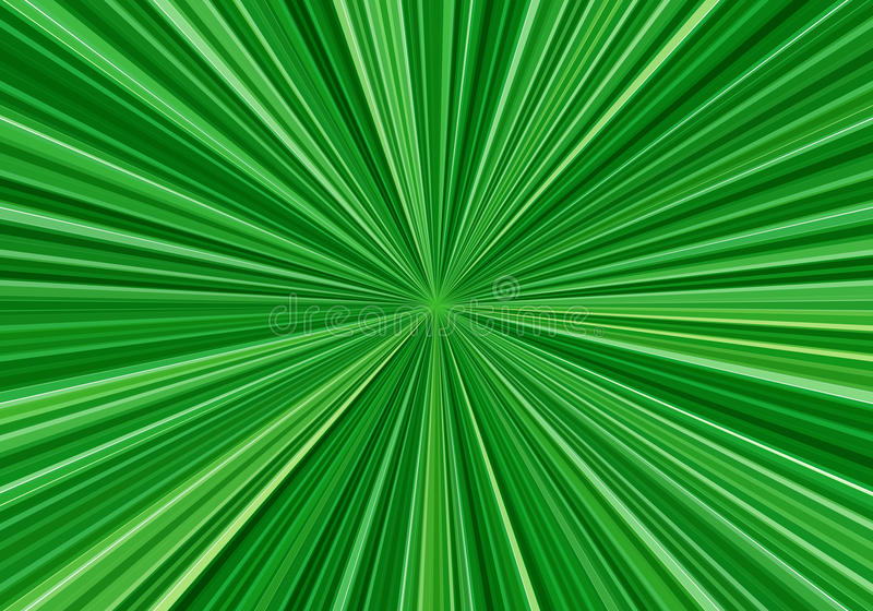 Radial speed lines with focus in the center. Abstract fractal background with bright green rays. Zoom effect. Radial speed lines with focus in the center vector illustration