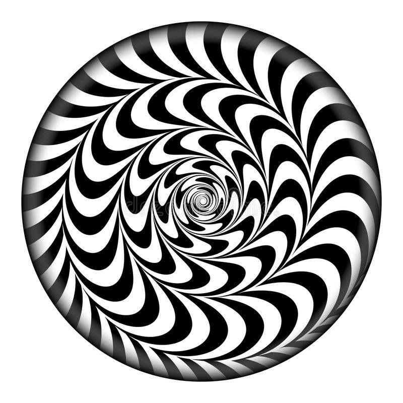 Radial Spiral Vector Psychedelic Illustration. Comic Rotation Effect. Black And White Twirl Rays Background. Radial Spiral Vector Psychedelic Illustration vector illustration
