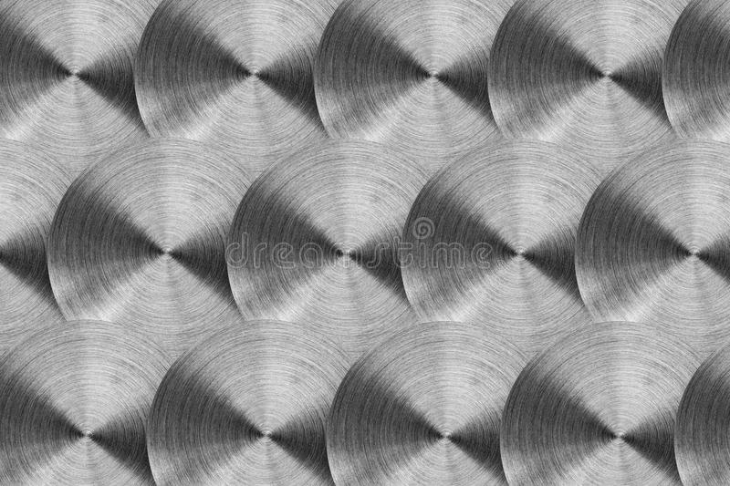 Radial stainless steel surface. Isolated on white royalty free stock photos