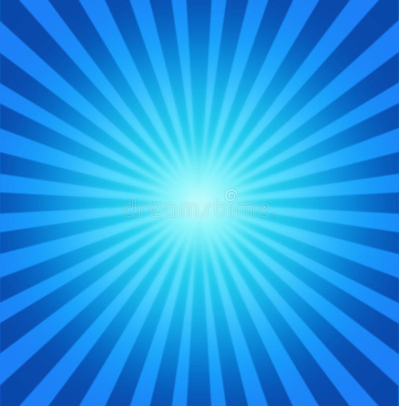 Radiale blauwe achtergrond stock illustratie