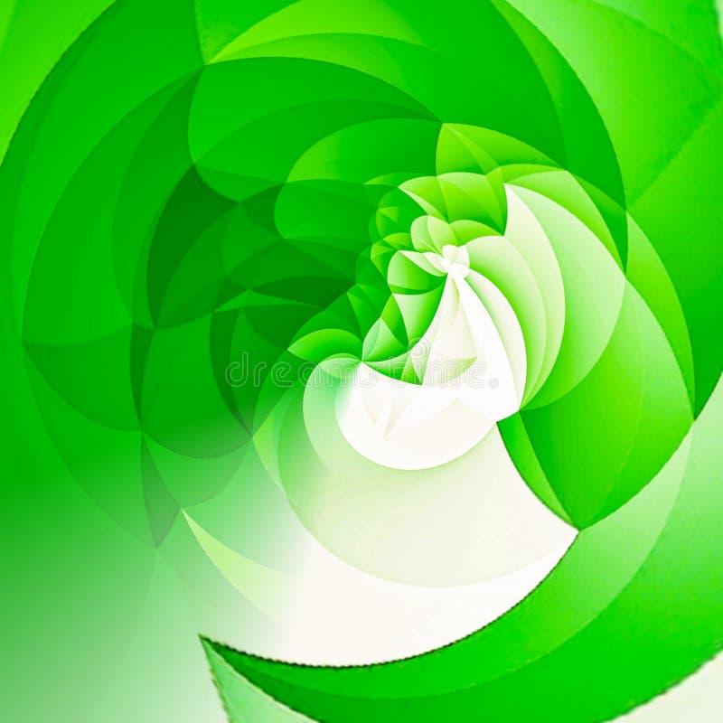 Radiale groene ontwerpen vector illustratie