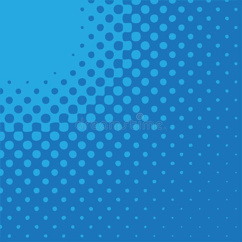 Radiale Pijl - Blauw vector illustratie