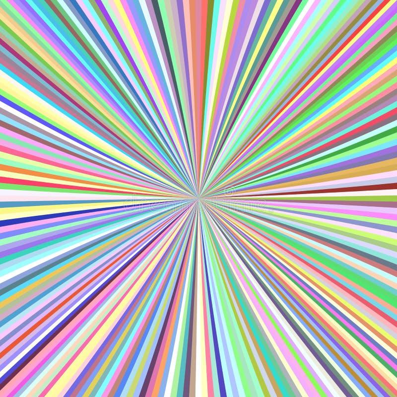 Radiale strepenachtergrond - grafische gebarsten straal royalty-vrije illustratie