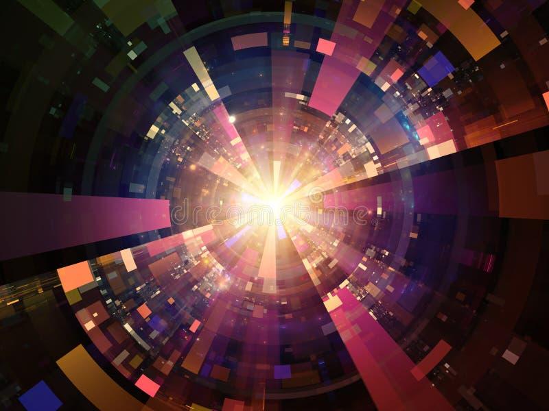 Radiale technologische vormen royalty-vrije illustratie