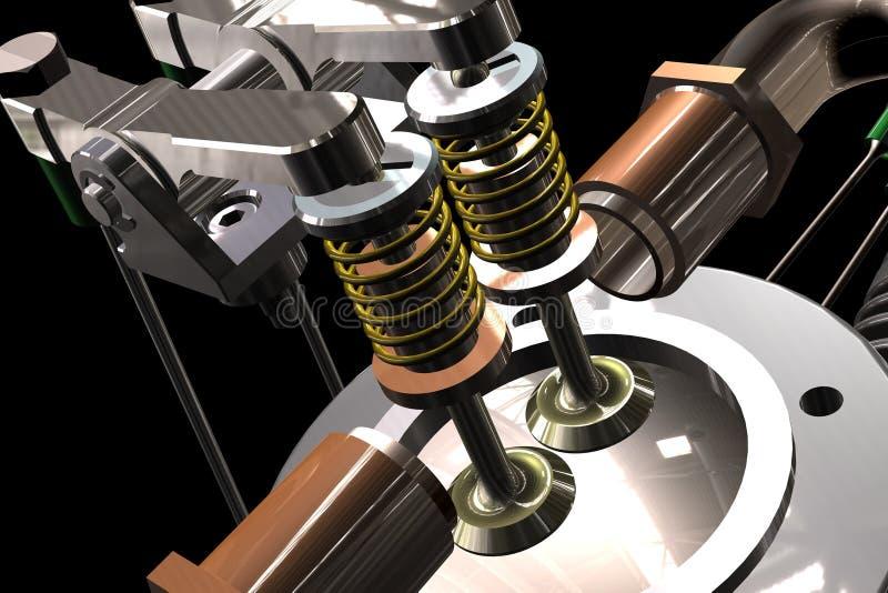 Radiale vliegtuigenmotor vector illustratie