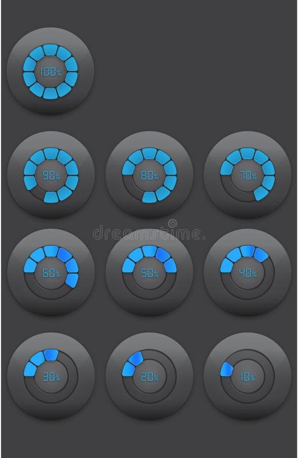 Radiale Vooruitgangsbar royalty-vrije stock afbeeldingen