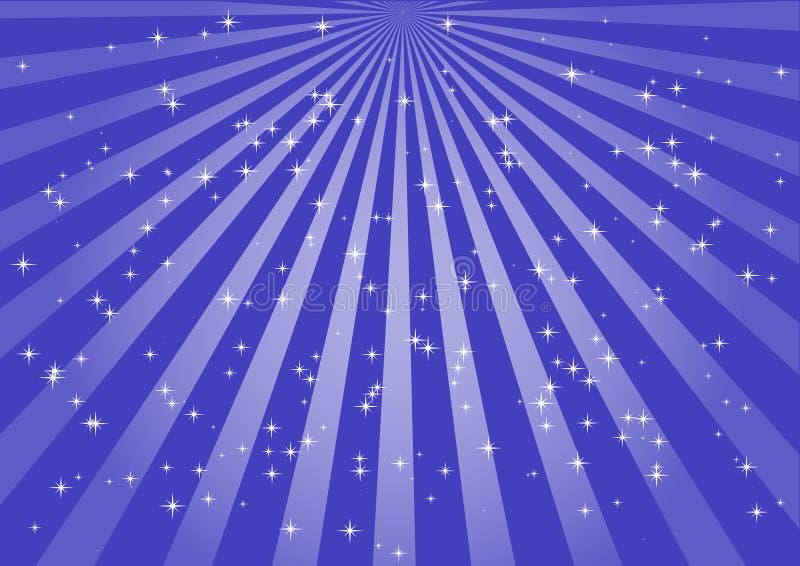 radialen rays vektorn royaltyfri illustrationer