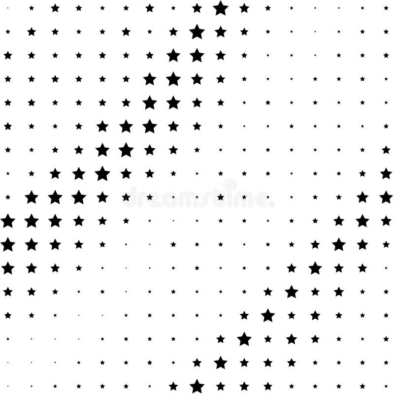 Radialpunktmuster oder Halbtonhintergrund stock abbildung