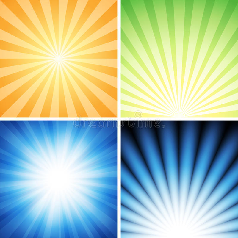 Radiance Background Set royalty free illustration