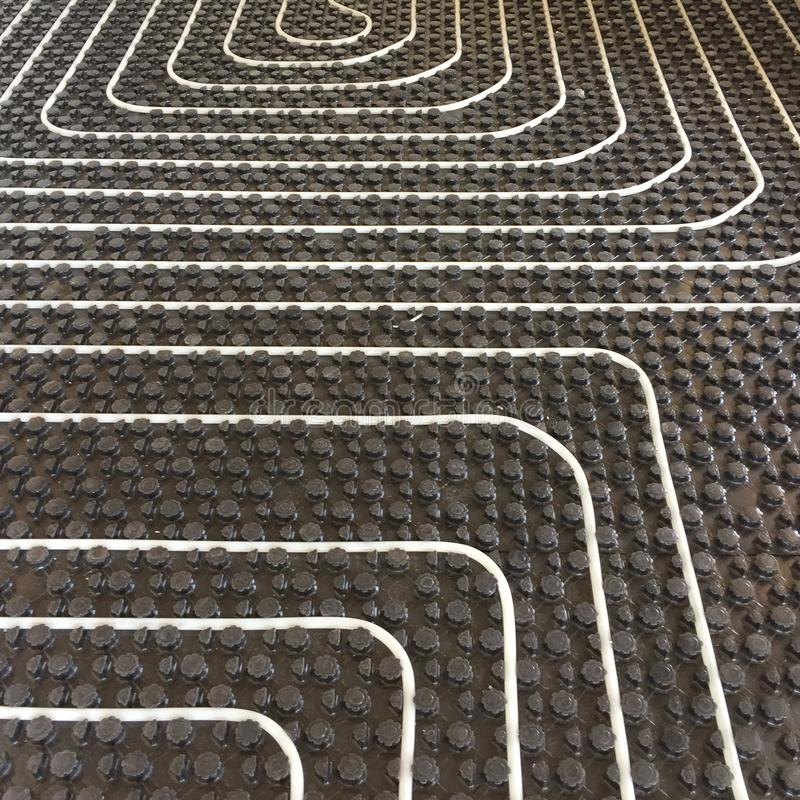 Radiant floor Heating system detail royalty free stock photos