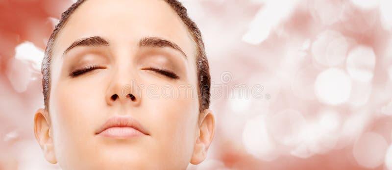 Radiant glowing skin royalty free stock photo
