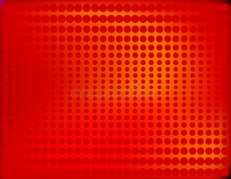 Radiant Halftone in Red. Is original artwork. The vector file uses a gradient mesh and is in AI-EPS8 format vector illustration