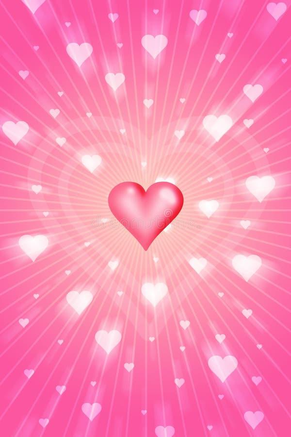 Download Radiant love stock illustration. Illustration of heart - 521955