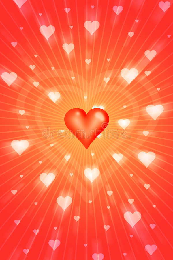 Radiant love. Graphics vector illustration